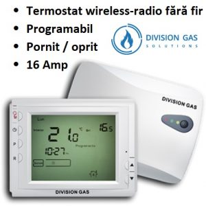 Termostat Division Gas 908 RF ambient radio centrala wireless fara fir