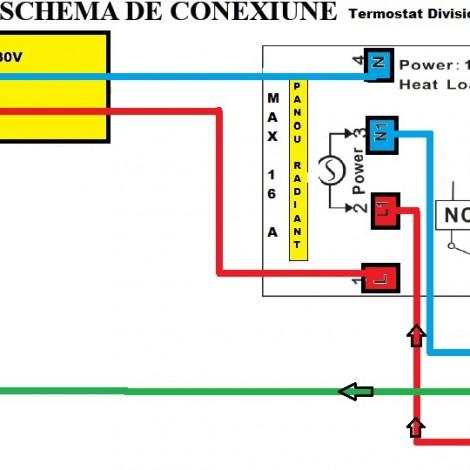 Termostat centrala wireless termostat Division Gas DG 908 RF termostat ambient radio fara fir