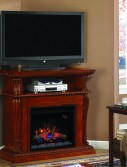 Console media stand tv Classic Flame Corinth Vintage Cherry 23''