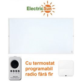 ElectricSun alb cu termostat radio Sisteme de incalzire panouri radiante cu infrarosu cu TUV GS 470