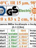 sisteme de incalzire panouri radiante electricsun 960w