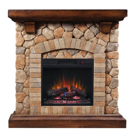Seminee electrice 3d ClassicFlame TEQUESTA Old World Brown 18 18WM40070-C296