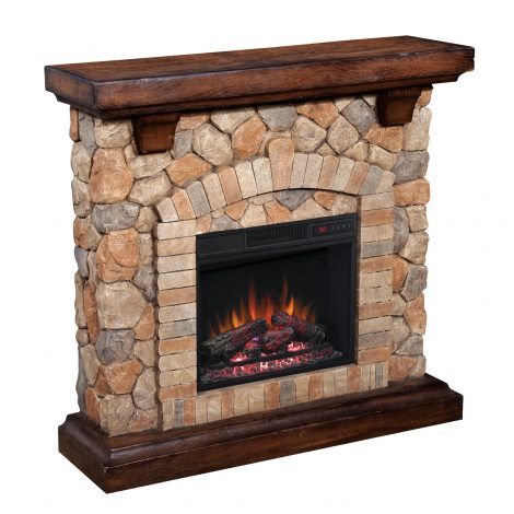 Seminee electrice Classic Flame TEQUESTA Old World Brown 18 18WM40070-C296
