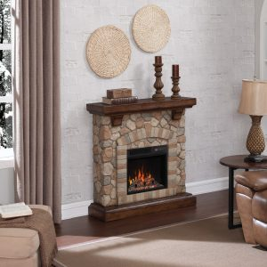 Semineu electric 3d ClassicFlame TEQUESTA Old World Brown 18 18WM40070-C296