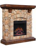 Semineu electric Classic Flame TEQUESTA Old World Brown 18 18WM40070-C296