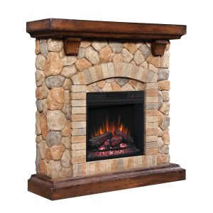 Semineu electric Classic Flame TEQUESTA Old World Brown 18 18WM40070-C296