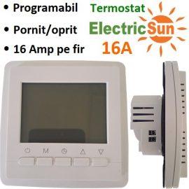termostat ambient, thermostat digital, termostat electronic, termostat de camera, termostat programabil, termostat ambient cu fir, termostat inteligent, termostat 16a electricsun