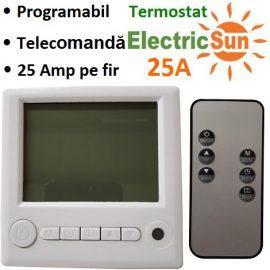 termostat de ambient cu fir, termostat centrala cu fir, termostat de ambianta, termostat electricsun 25A