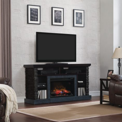 tv Media console stand cu focar electric Classic Flame Matterhorn 26MM2630-E454