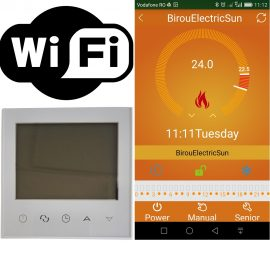 termostat prin telefon, termostat prin internet, termostat controlat prin internet, termostat programabil internet, termostat internet, termostat wireless, electricsun, 16at alb in doza