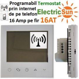 termostat programabil internet, termostat internet, termostat wireless centrala termica, termostat ambient wireless, electricsun, 16at telefon