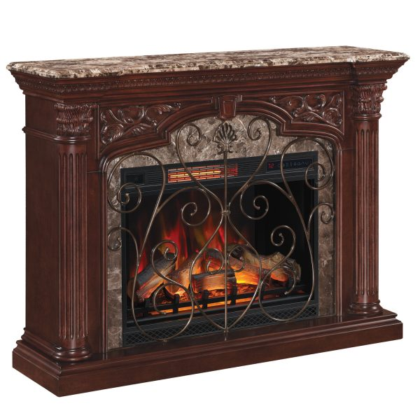 astoria 3D astoria-front Semineu electric Classic Flame Astoria 33