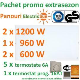 Pachet promo panouri radiante electricsun cu termostate