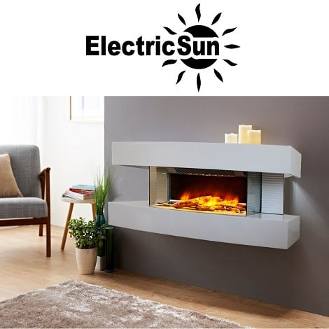 Seminee electrice 3D ElectricSun Paula alb mic 32 living