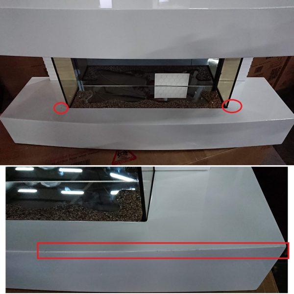Semineu ElectricSun Paula alb mic 32 inch 81x41x22cm (zgariat)